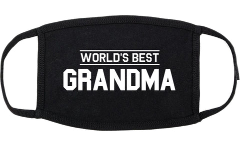 Worlds Best Grandma Gift Cotton Face Mask Black