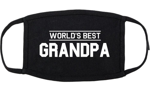 Worlds Best Grandpa Gift Cotton Face Mask Black