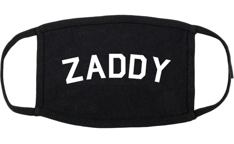 Zaddy Cotton Face Mask Black