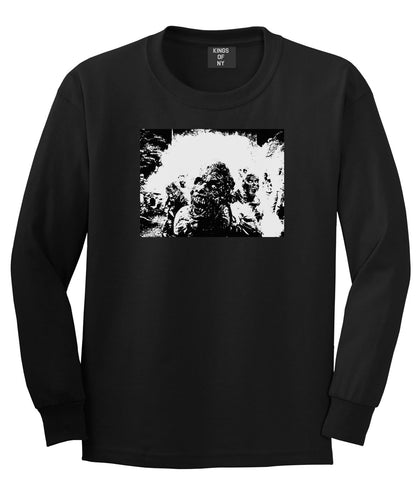 Zombie Portrait Attack Halloween Long Sleeve T-Shirt