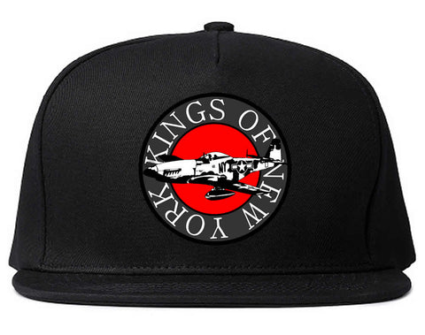 Airplane World War Snapback Hat by Kings Of NY