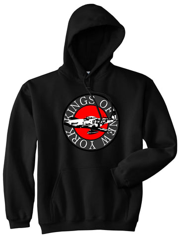 Kings Of NY Airplane World War Pullover Hoodie Hoody in Black