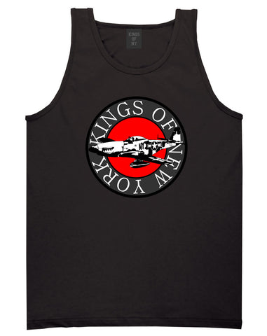 Kings Of NY Airplane World War Tank Top in Black