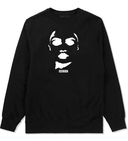 Amina Sexy Model Crewneck Sweatshirt in Black By Kings Of NY