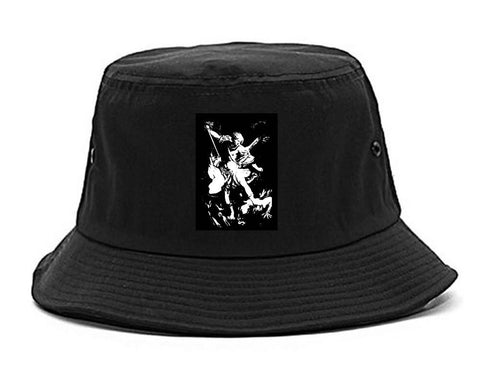 Angel Of Death Ancient Goth Myth Bucket Hat in Black By Kings Of NY