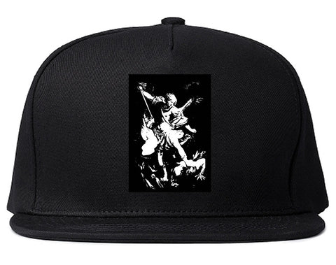 Angel Of Death Ancient Goth Myth Snapback Hat in Black By Kings Of NY