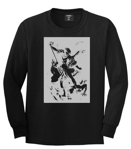 Angel Of Death Ancient Goth Myth Long Sleeve T-Shirt in Black By Kings Of NY