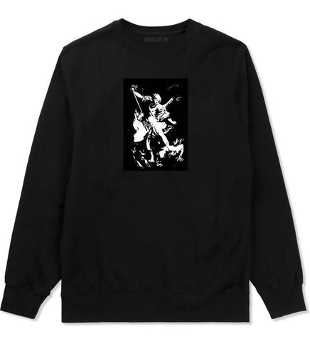 Angel Of Death Ancient Goth Myth Crewneck Sweatshirt in Black By Kings Of NY