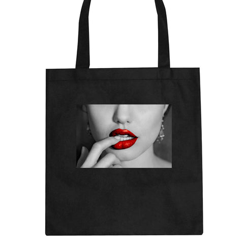 Angelina Red Lips Sexy Tote Bag By Kings Of NY