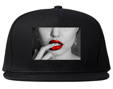 Angelina Red Lips Sexy Snapback Hat By Kings Of NY