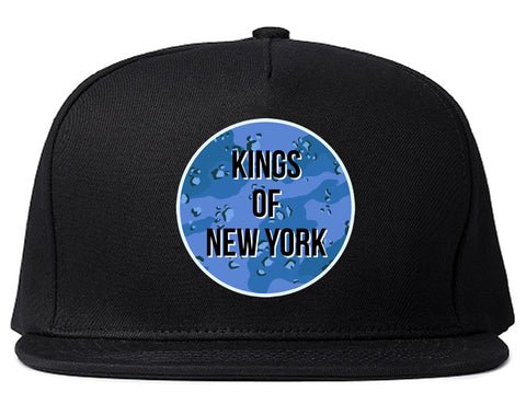 Army Chest Logo Armed Force Snapback Hat in Black by Kings Of NY