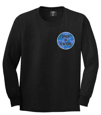 Army Chest Logo Armed Force Boys Kids Long Sleeve T-Shirt in Black by Kings Of NY