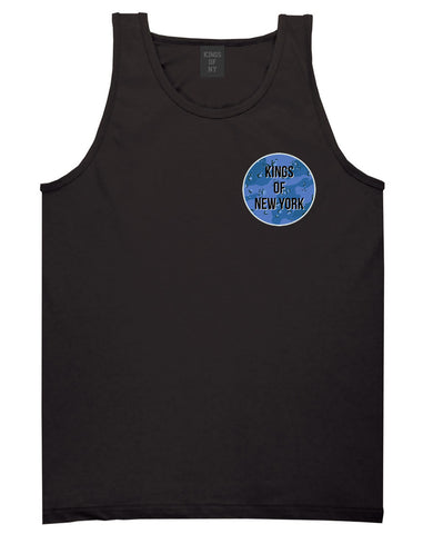 Army Chest Logo Armed Force Tank Top in Black by Kings Of NY