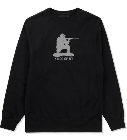 Kings Of NY Green Army Men Crewneck Sweatshirt By Kings Of NY