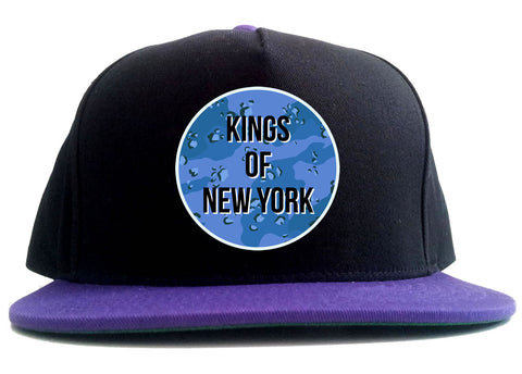 Army Chest Logo Armed Force 2 Tone Snapback Hat in Black and Purple by Kings Of NY