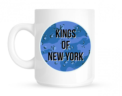 Army Chest Logo Armed Force Coffee Tea Mug in White by Kings Of NY