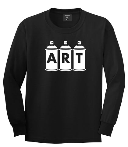 Art graf graffiti spray can paint artist Long Sleeve T-Shirt in Black By Kings Of NY