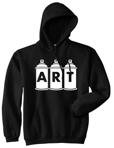 Art graf graffiti spray can paint artist Pullover Hoodie in Black By Kings Of NY