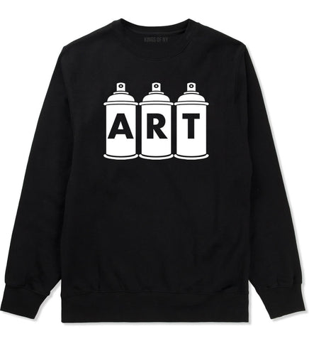Art graf graffiti spray can paint artist Crewneck Sweatshirt in Black By Kings Of NY
