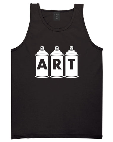 Art graf graffiti spray can paint artist Tank Top in Black By Kings Of NY