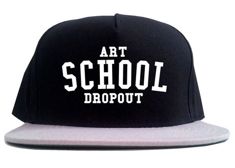 Art School Dropout College Fashion High 2 Tone Snapback Hat By Kings Of NY