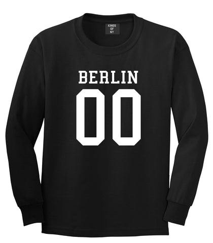 Berlin Team Jersey Germany Country Long Sleeve T-Shirt in Black By Kings Of NY