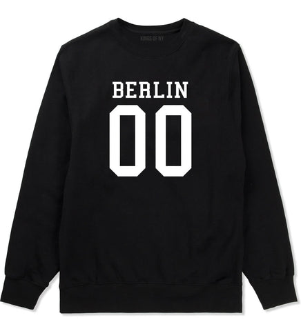 Berlin Team Jersey Germany Country Crewneck Sweatshirt in Black By Kings Of NY