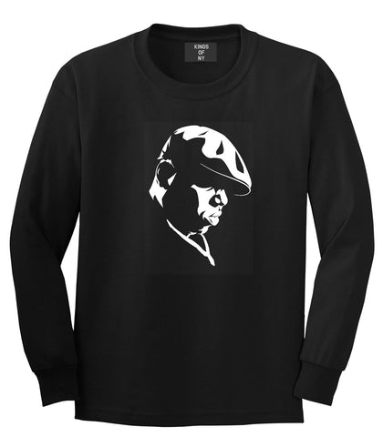 Kings Of NY Biggie Silhouette BIG Long Sleeve T-Shirt in Black