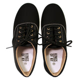 The Classic Canvas Casual Skate Black Sneakers