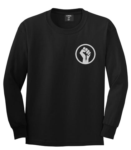 Black Power Fist Long Sleeve T-Shirt by Kings Of NY