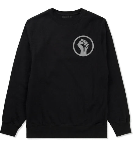 Black Power Fist Crewneck Sweatshirt by Kings Of NY