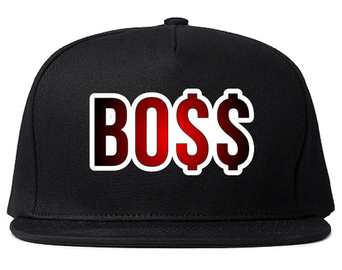 Boss Gradient Red Rick Style Top Head Snapback Hat By Kings Of NY