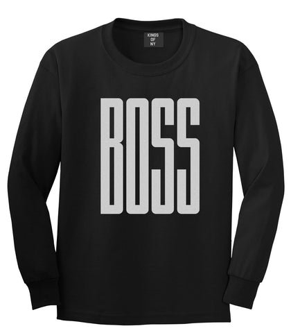 BOSS Long Printed Long Sleeve T-Shirt in Black by Kings Of NY