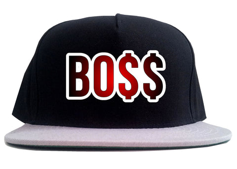 Boss Gradient Red Rick Style Top Head 2 Tone Snapback Hat By Kings Of NY