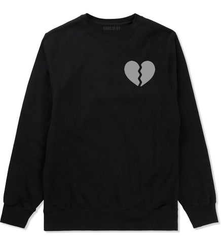 Broken Heart Crewneck Sweatshirt by Kings Of NY