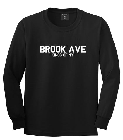 Brook Ave South Bronx New York Long Sleeve T-Shirt in Black