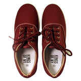 The Classic Canvas Casual Skate Burgundy Sneakers