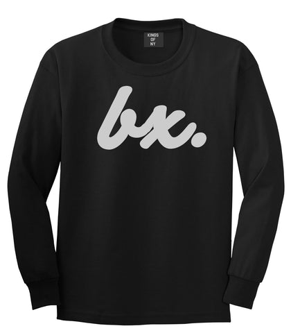 Bx The Bronx Script Long Sleeve T-Shirt in Black By Kings Of NY