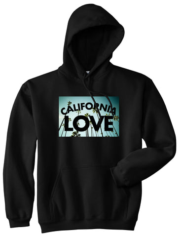 California Love Cali Palm Trees Pullover Hoodie in Black By Kings Of NY