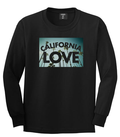 California Love Cali Palm Trees Long Sleeve T-Shirt in Black By Kings Of NY