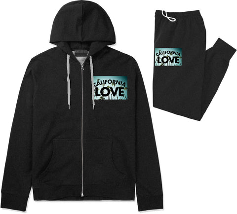 California Love Cali Palm Trees Premium Sweatsuit in Black By Kings Of NY
