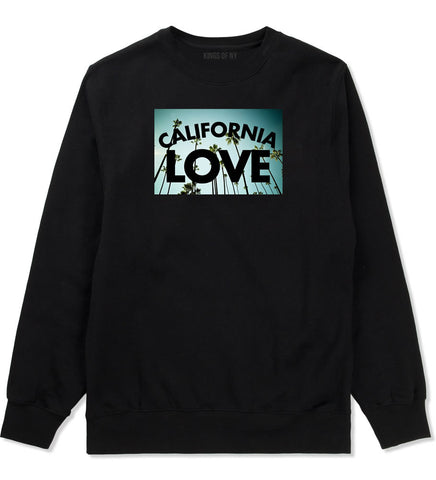 California Love Cali Palm Trees Crewneck Sweatshirt in Black By Kings Of NY