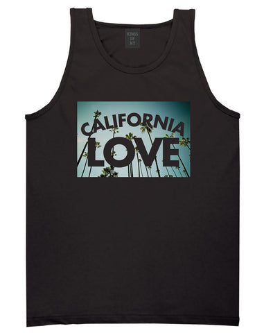 California Love Cali Palm Trees Tank Top in Black By Kings Of NY