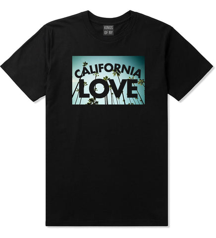 California Love Cali Palm Trees T-Shirt in Black By Kings Of NY