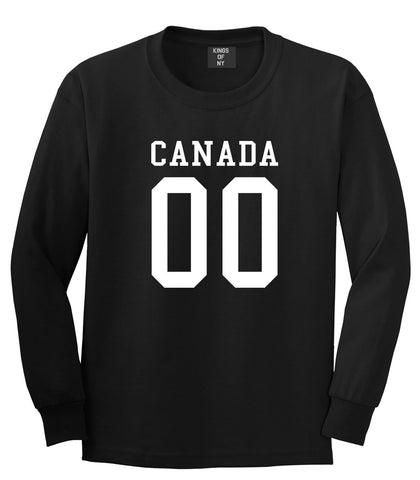 Canada Team 00 Jersey Long Sleeve T-Shirt in Black By Kings Of NY