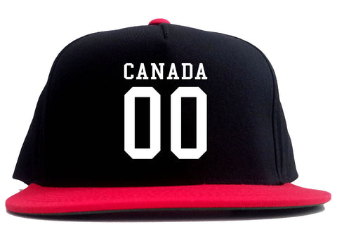 Canada Team 00 Jersey 2 Tone Snapback Hat By Kings Of NY