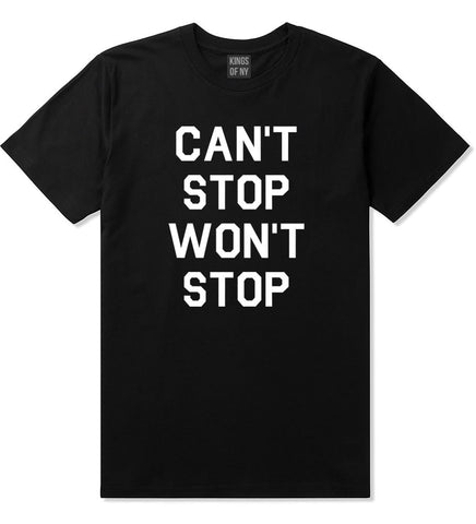 Kings Of NY Cant Stop Wont Stop T-Shirt in Black