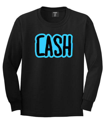 Cash Money Blue Lil Style Bird Wayne Man Long Sleeve T-Shirt In Black by Kings Of NY