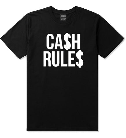 Cash Rules T-Shirt in Black by Kings Of NY