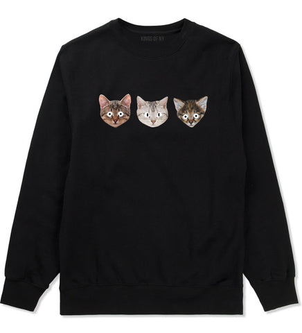 Cats Crazy Kittens Crewneck Sweatshirt in Black By Kings Of NY